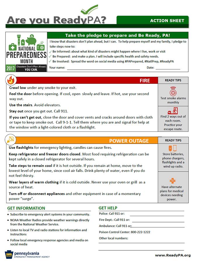 National Preparedness Month 2017 – Yoe Borough